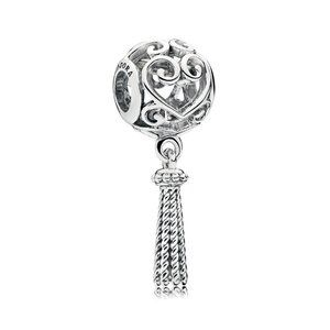 Pandora Enchanted Heart Tassel Charm